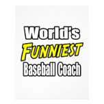 El entrenador de béisbol más divertido del mundo membrete