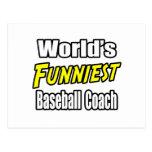 El entrenador de béisbol más divertido del mundo tarjetas postales