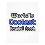 El entrenador de béisbol más fresco del mundo flyer a todo color