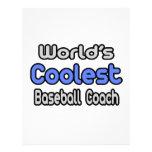 El entrenador de béisbol más fresco del mundo plantilla de membrete