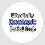 El entrenador de béisbol más fresco del mundo pegatina