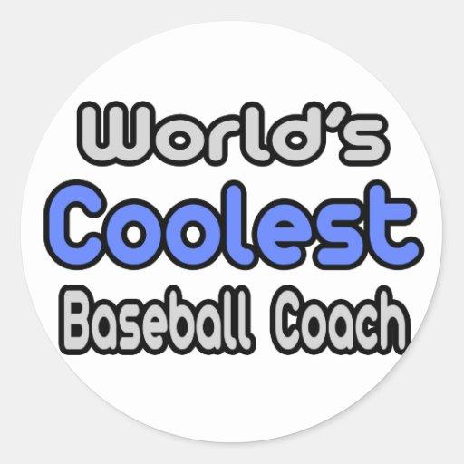El entrenador de béisbol más fresco del mundo pegatinas