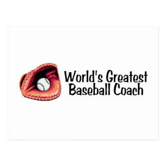 El entrenador de béisbol más grande de los mundos tarjetas postales