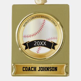 El entrenador de béisbol más grande del mundo el | adornos personalizables