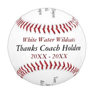 El entrenador de béisbol personalizado le agradece