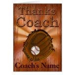 El entrenador de béisbol PERSONALIZADO le agradece Felicitación