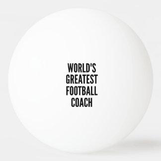 El entrenador de fútbol más grande de los mundos pelota de tenis de mesa