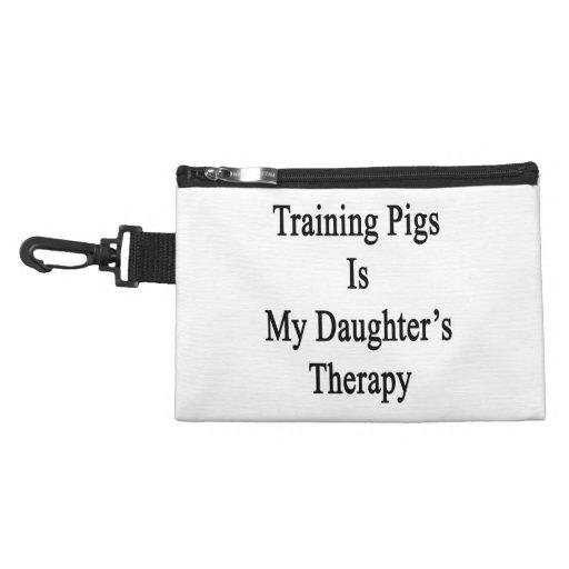 El entrenamiento de cerdos es la terapia de mi hij