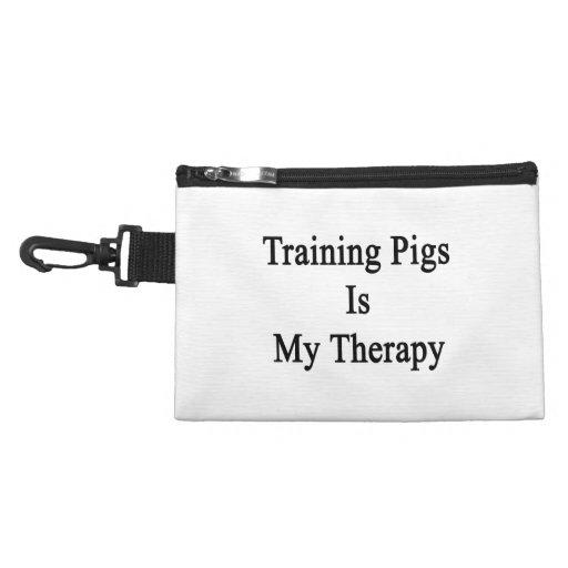 El entrenamiento de cerdos es mi terapia
