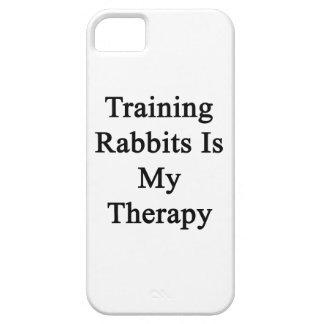 El entrenamiento de conejos es mi terapia iPhone 5 Case-Mate carcasa