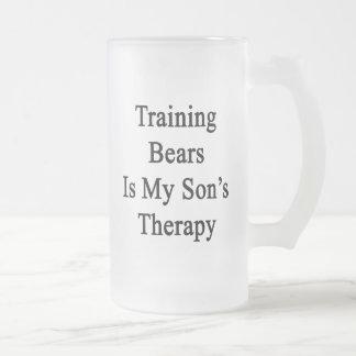 El entrenamiento de osos es la terapia de mi hijo tazas de café