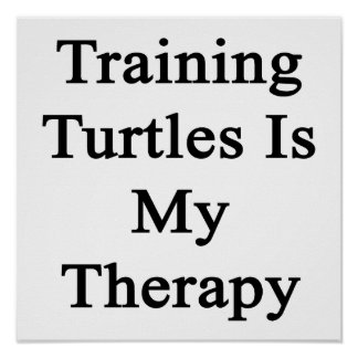 El entrenamiento de tortugas es mi terapia impresiones