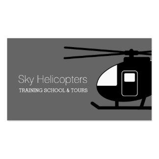El entrenamiento experimental de los helicópteros tarjetas de visita