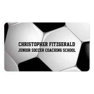 El entrenar adaptable del balón de fútbol del tarjetas de visita