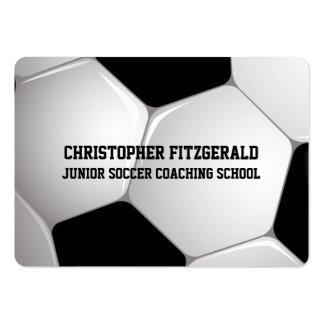 El entrenar adaptable del balón de fútbol del tarjetas de visita grandes