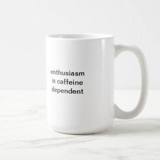 El entusiasmo es taza del dependiente del cafeína