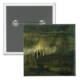 El envío de las cenizas de Napoleon a bordo Pin Cuadrado