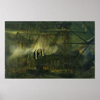El envío de las cenizas de Napoleon a bordo Póster