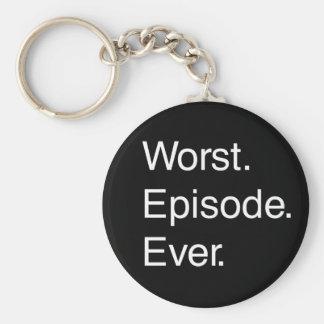 El episodio peor nunca llavero redondo tipo pin