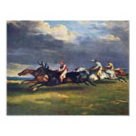 El Epsom Derby de Géricault Jean Louis Théodore ( Invitación 10,8 X 13,9 Cm