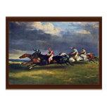 El Epsom Derby de Géricault Jean Louis Théodore ( Postal