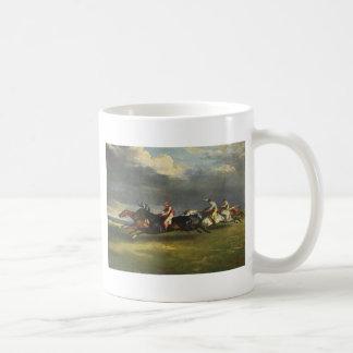El Epsom Derby de Theodore Gericault Taza De Café