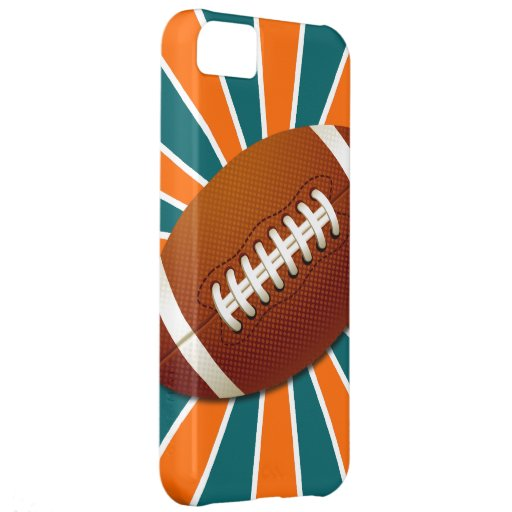 El equipo colorea fútbol retro del naranja y del t