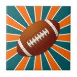 El equipo colorea fútbol retro del naranja y del t azulejos cerámicos