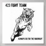El equipo de 423 luchas, va siempre para el Kno… Posters