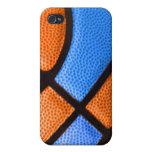 el equipo de baloncesto colorea el naranja y la ca iPhone 4 protectores