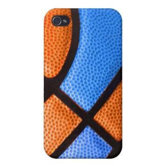 el equipo de baloncesto colorea el naranja y la ca iPhone 4 carcasa