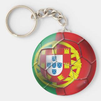 El equipo de fútbol nacional del fútbol de Portuga Llavero