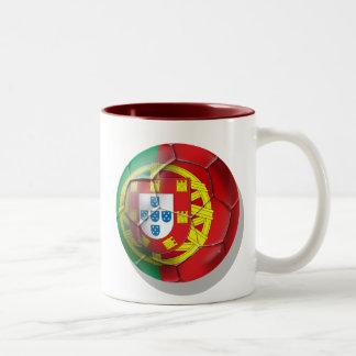 El equipo de fútbol nacional del fútbol de Portuga Taza De Café