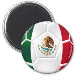El equipo de fútbol nacional mexicano aviva los re imán redondo 5 cm