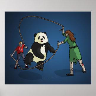 El equipo de la comba de la Zombi-Panda Posters