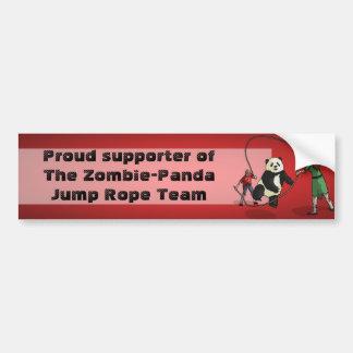 El equipo de la comba de la Zombi-Panda, Pegatina Para Auto