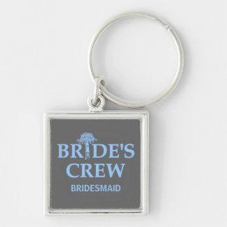 El equipo de la novia del ramo llavero