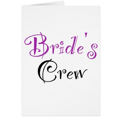 El equipo de la novia tarjeta de felicitación