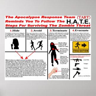 El equipo de la respuesta de la apocalipsis póster