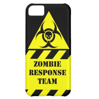 El equipo de la respuesta del zombi guarda calma y funda para iPhone 5C