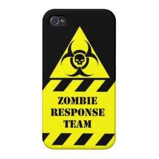 El equipo de la respuesta del zombi guarda calma y iPhone 4 funda