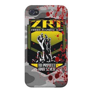 El equipo de la respuesta del zombi guarda calma y iPhone 4 fundas