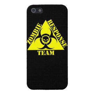El equipo de la respuesta del zombi guarda calma y iPhone 5 carcasa