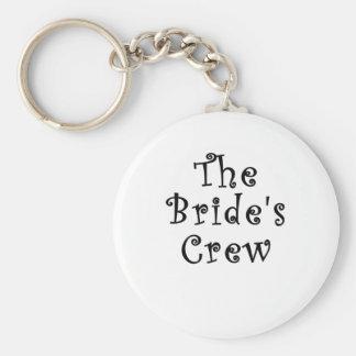 El equipo de las novias llavero redondo tipo pin
