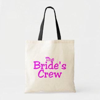 El equipo de las novias rosa bolsa de mano