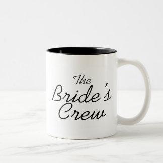El equipo de las novias tazas