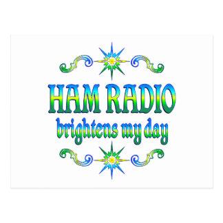 El equipo de radio-aficionado aclara postal