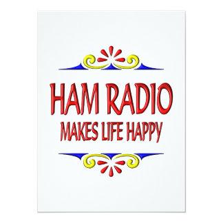 El equipo de radio-aficionado hace vida feliz invitaciones personalizada