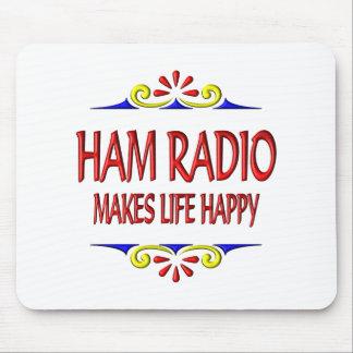 El equipo de radio-aficionado hace vida feliz tapetes de ratones