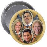 El equipo de Romney Ryan Pin Redondo 10 Cm